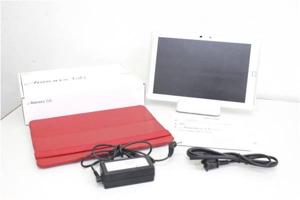 au ARROWS Tab FJT21 ホワイト ケース付き タブレットPCの買取-15000