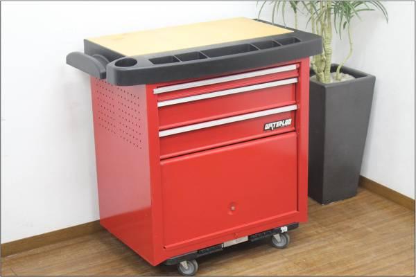(福岡市南区)WATERLOO 4段 ツールボックス ローリングキャビネット 工具箱 赤の買取-