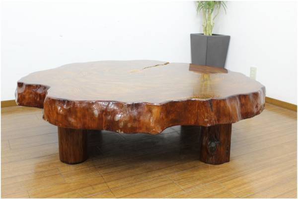 (福岡市南区)屋久杉 無垢 座卓 ローテーブルの買取-16000