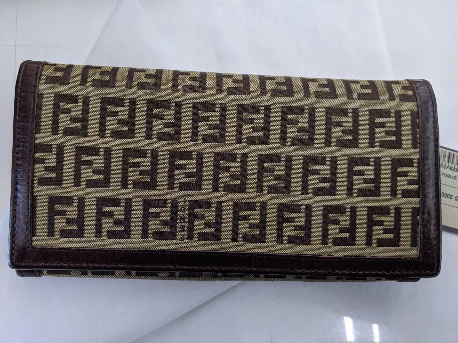 ブランド品も高価買取!!【FENDI/フェンディ ズッカ柄 長財布】を買取致しました。の買取-
