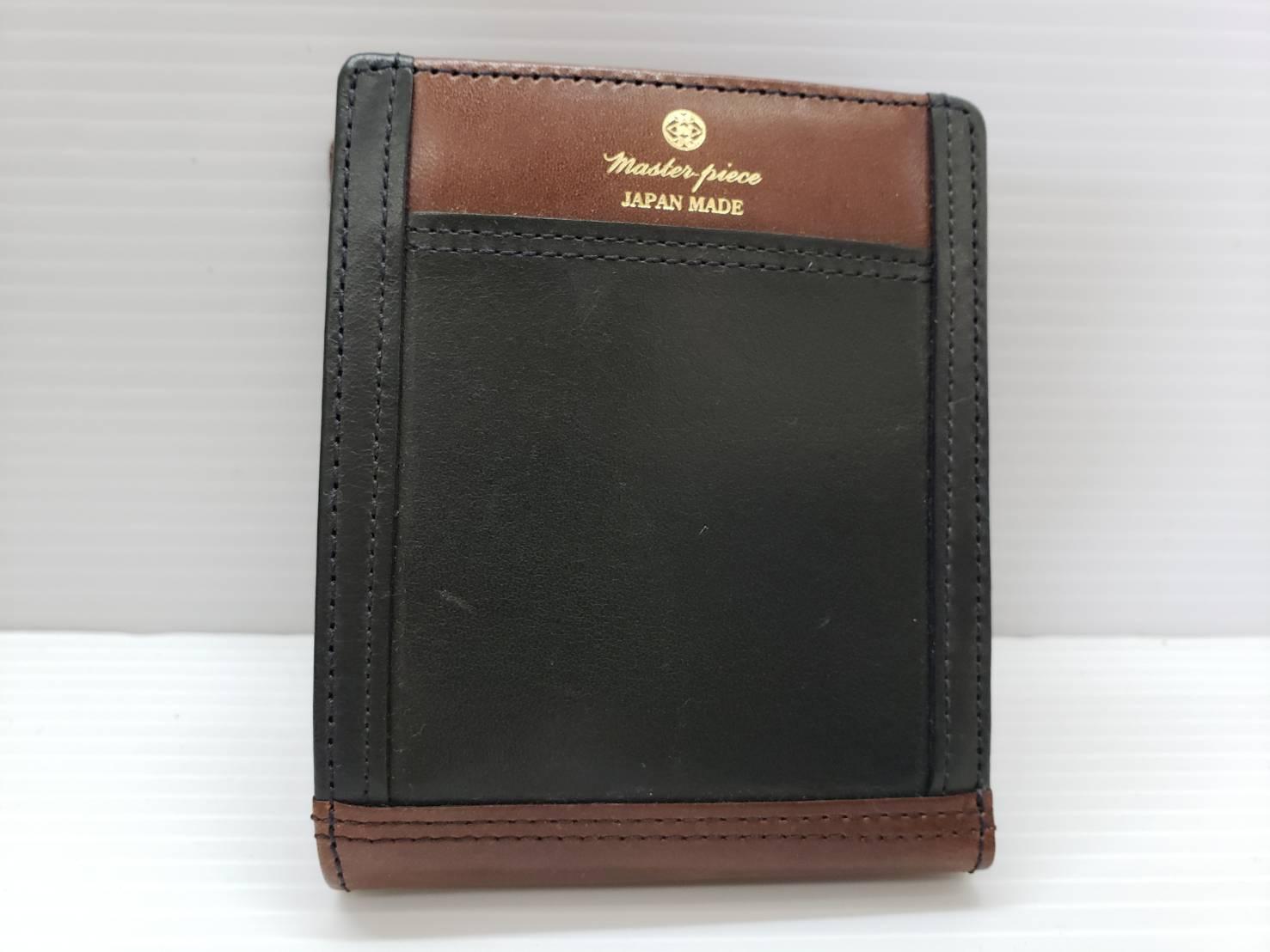 master-piece / マスターピース 牛革 二つ折り財布 新品 買取致しました。の買取-