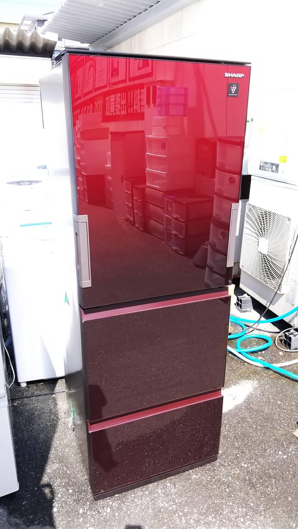 SHARP プラズマクラスター 冷蔵庫 356L 2019年 SJ-GW36E どっちもドア ガラスドアの買取-