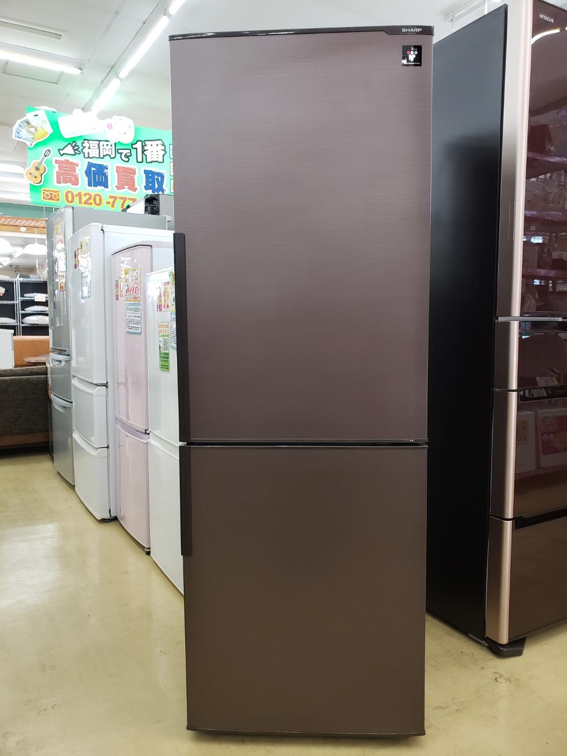 SHARP / シャープ 271L 冷蔵庫 2015年製 SJ-PD27A プラズマクラスター搭載 美品 買取致しました!の買取-