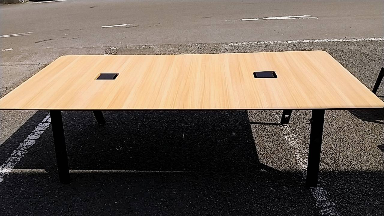 【PLUS プラス ダイニングワークテーブル 幅240cm 4~8人用】を買取致しました!の買取-
