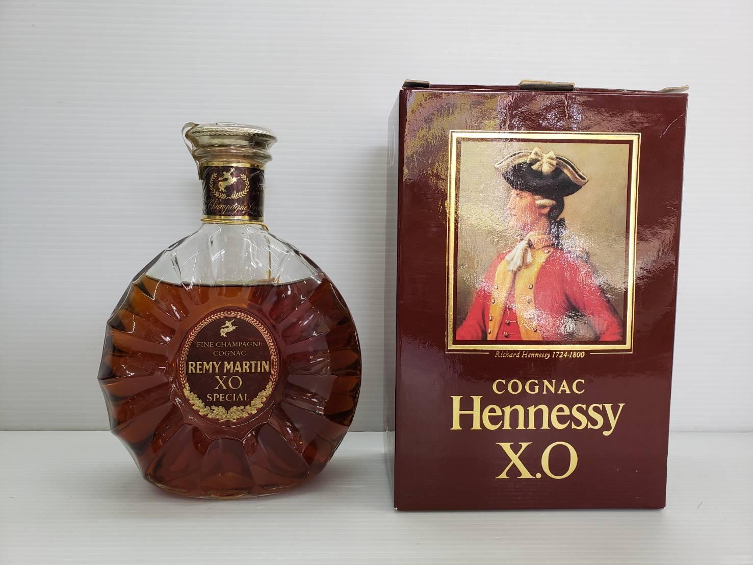 Hennessy X.O グリーンボトル 金キャップ / REMY MARTIN XO 買取致しました!の買取-
