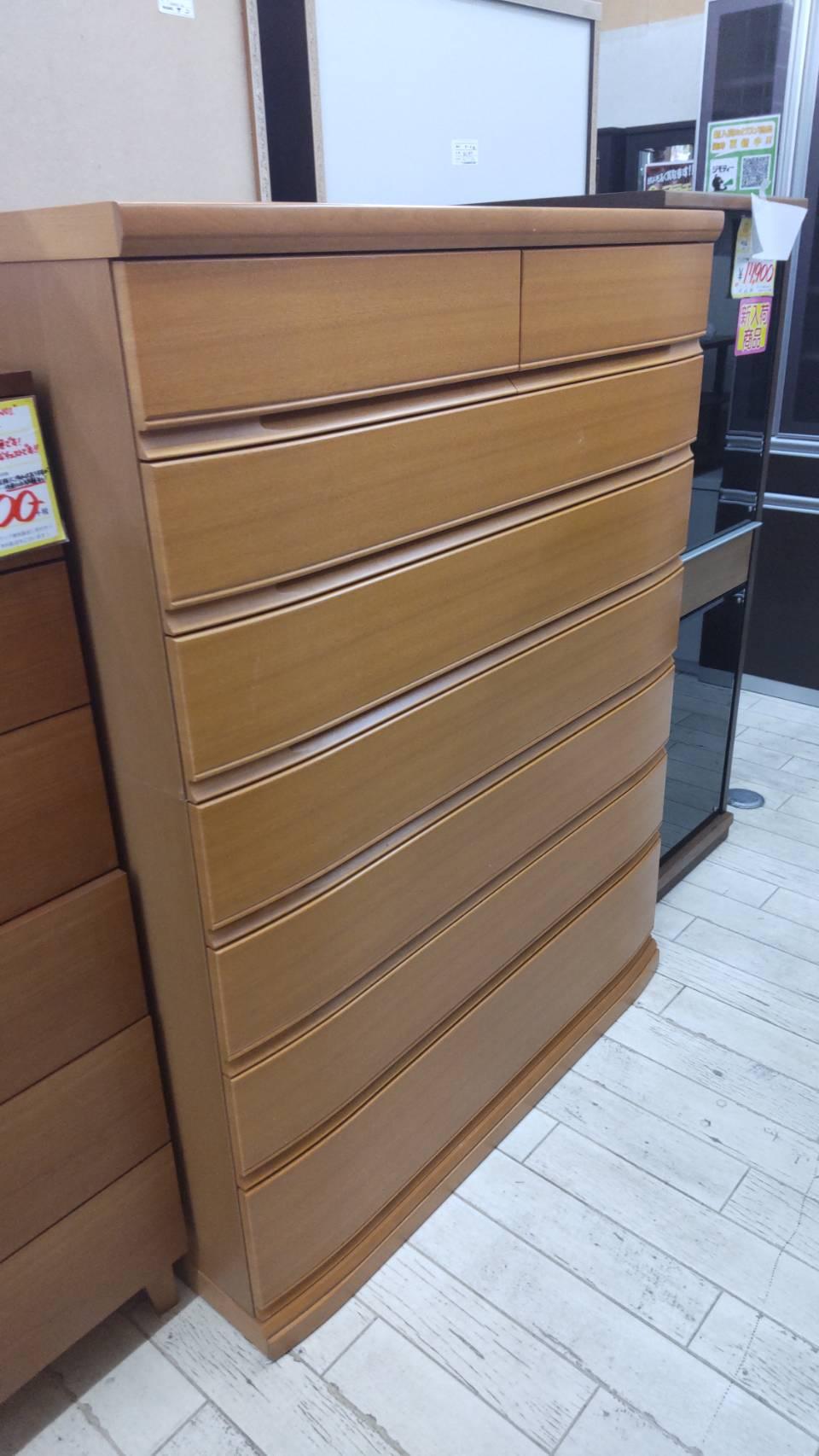 【府中家具 7段チェスト IDC大塚家具購入 収納家具 桐製家具】を買取させて頂きました!の買取-