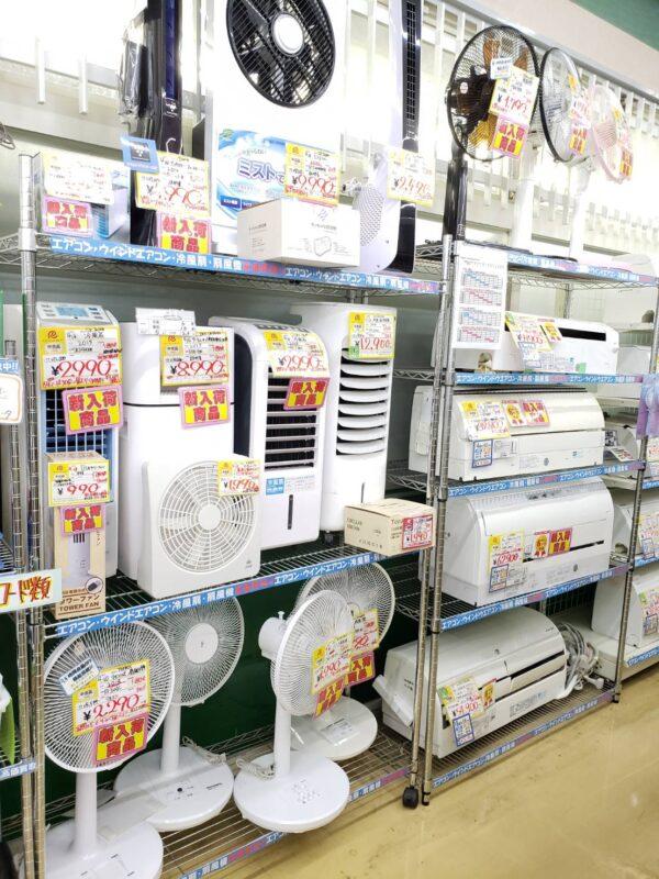 夏物家電強化買取開始! 扇風機、除湿器お売りください!