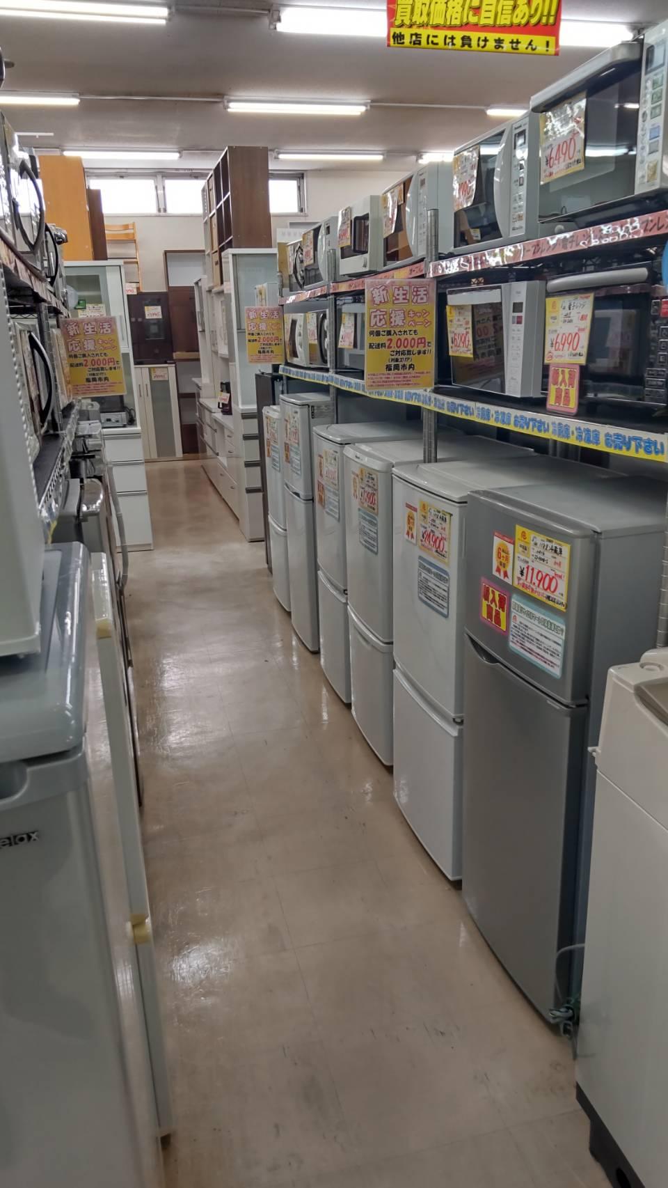 新生活応援キャンペーン実施中♪冷蔵庫・洗濯機・電子レンジなど在庫まだまだ御座います!!