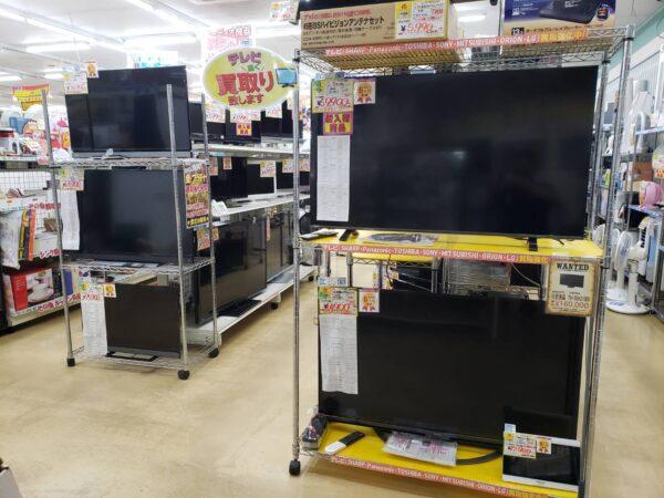 40インチ以上の大型テレビ強化買取中です!