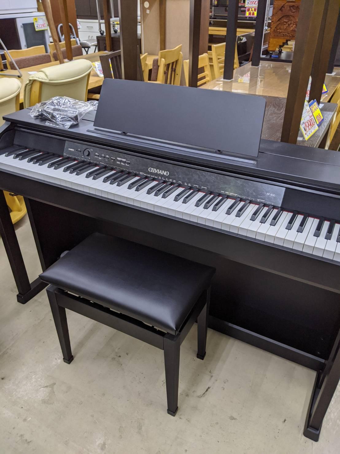 【2014年製 CASIO 電子ピアノ CHELVIANO セルヴィアーノ AP-450】を買取させて頂きました!!の買取-