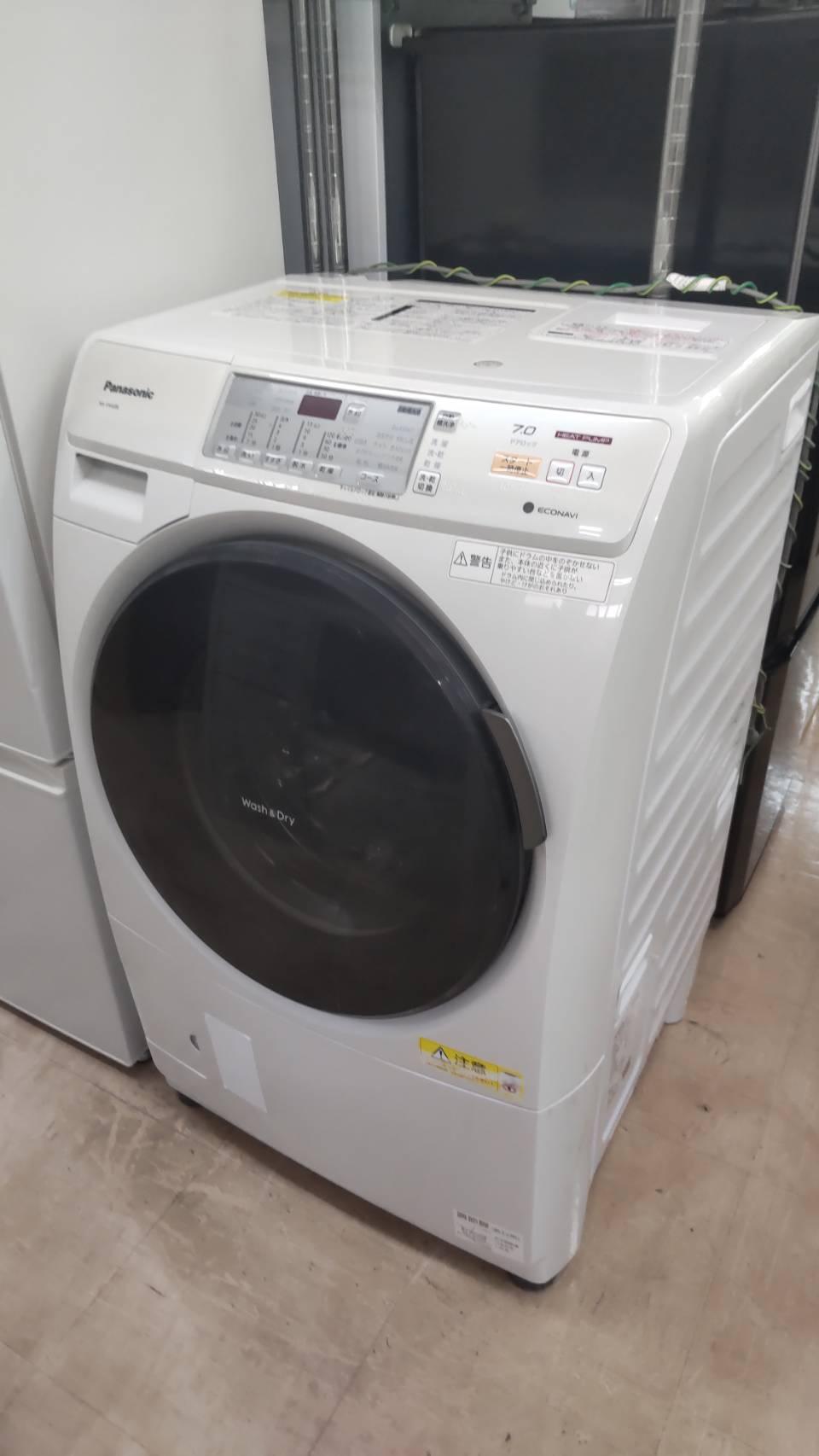 【Pnasonic パナソニック ドラム式 洗濯機 洗濯7kg 乾燥3.5kg NA-VH32L プチドラム econavi 搭載 ヒートポンプ 乾燥】を買取させて頂きました!⭐福岡市 早良区 リサイクルショップ リサイクルマート原店⭐の買取-