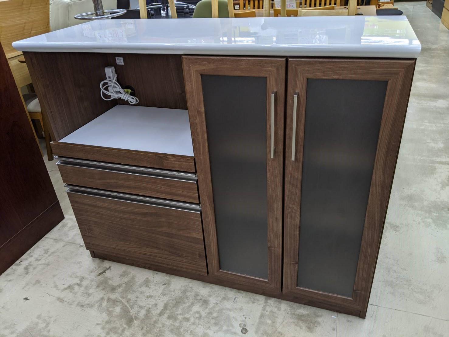 【CRAFT KOGA クラフトコガ キッチンカウンター マテリア(WN) レンジボード キッチン】を買取いたしました!の買取-