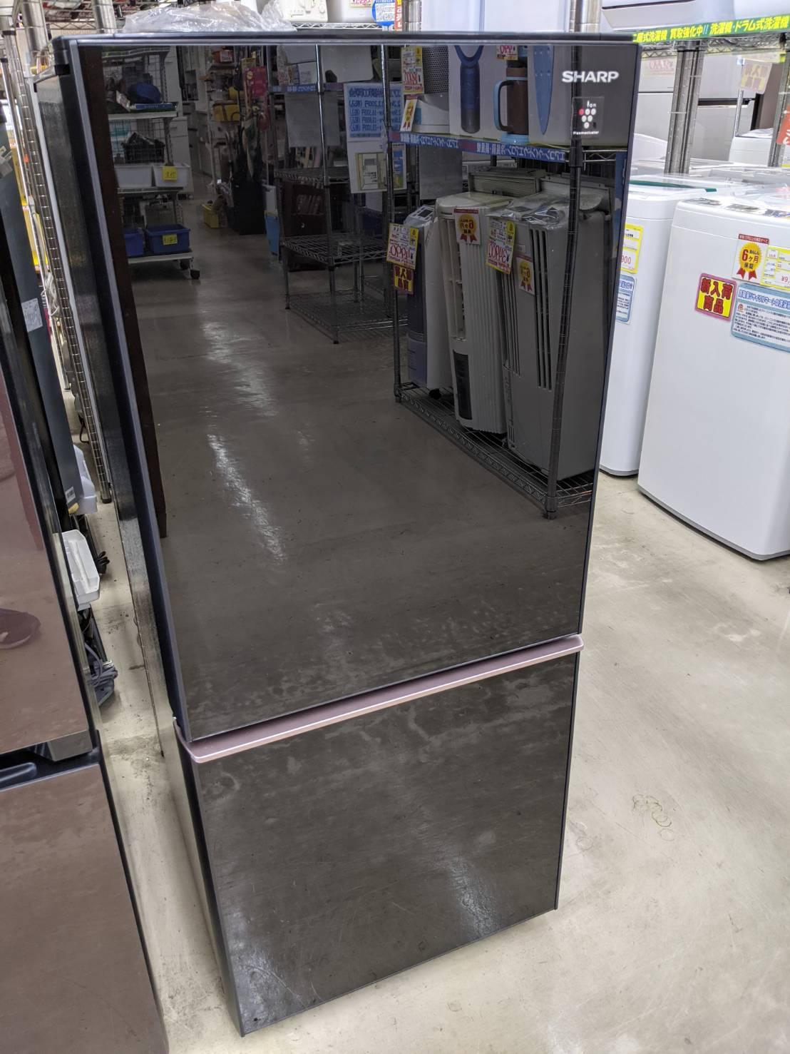 【SHARP 137L 冷蔵庫 SJ-GD14E 2018年式 ガラストップ プラズマクラスター】を買取いたしました!の買取-