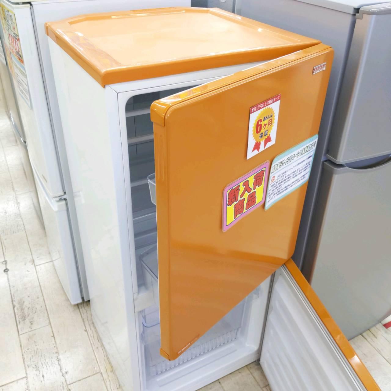 【★参考上代約3.3万 MORITA 110L冷蔵庫 MR-J110BC concept オレンジ カラー冷蔵庫★】を買い取りさせて頂きました。の買取-