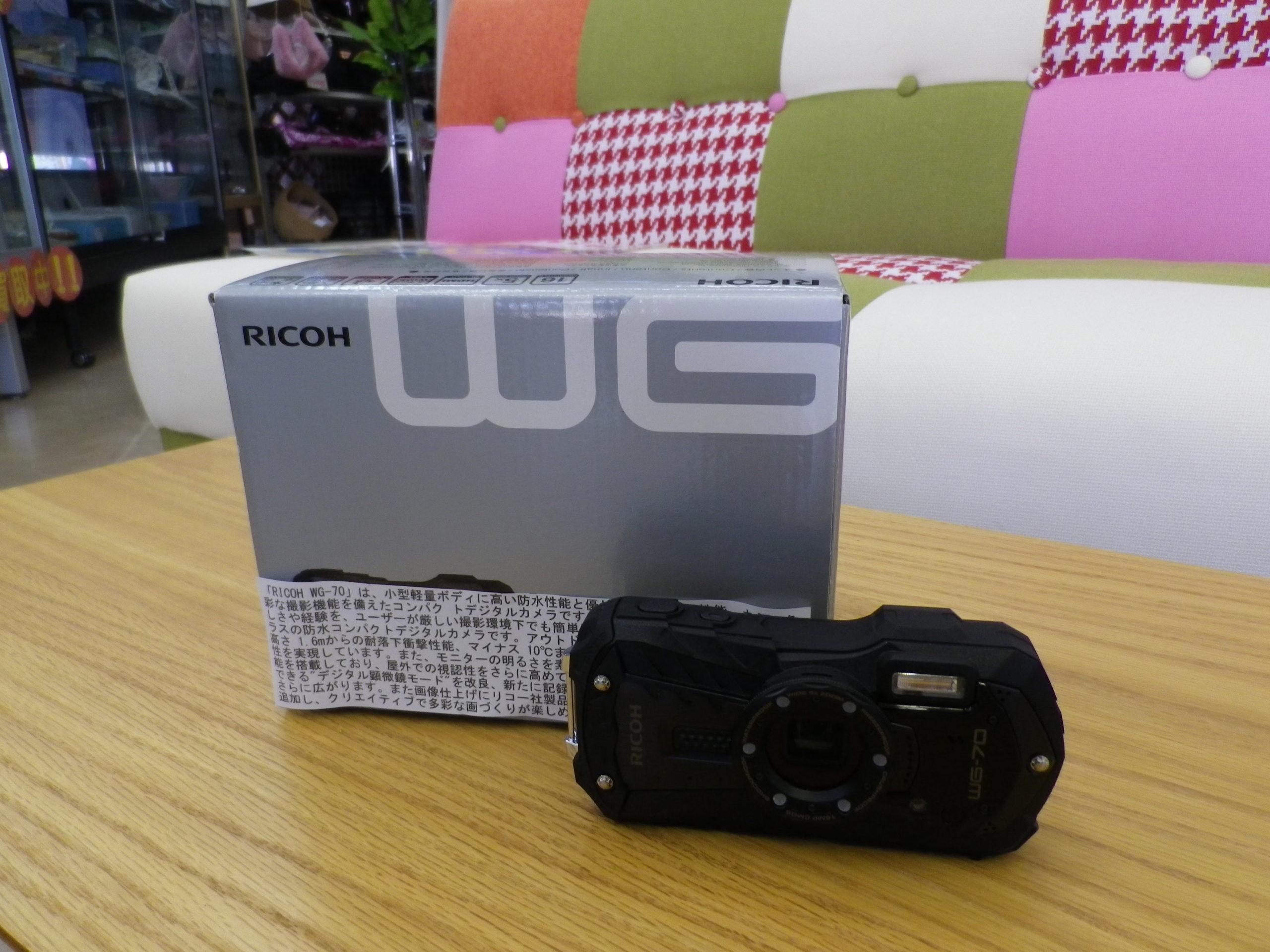 【RICOH リコー 防水 デジタルカメラ WG-70 耐衝撃 防塵 耐寒】を買取させて頂きました!の買取-