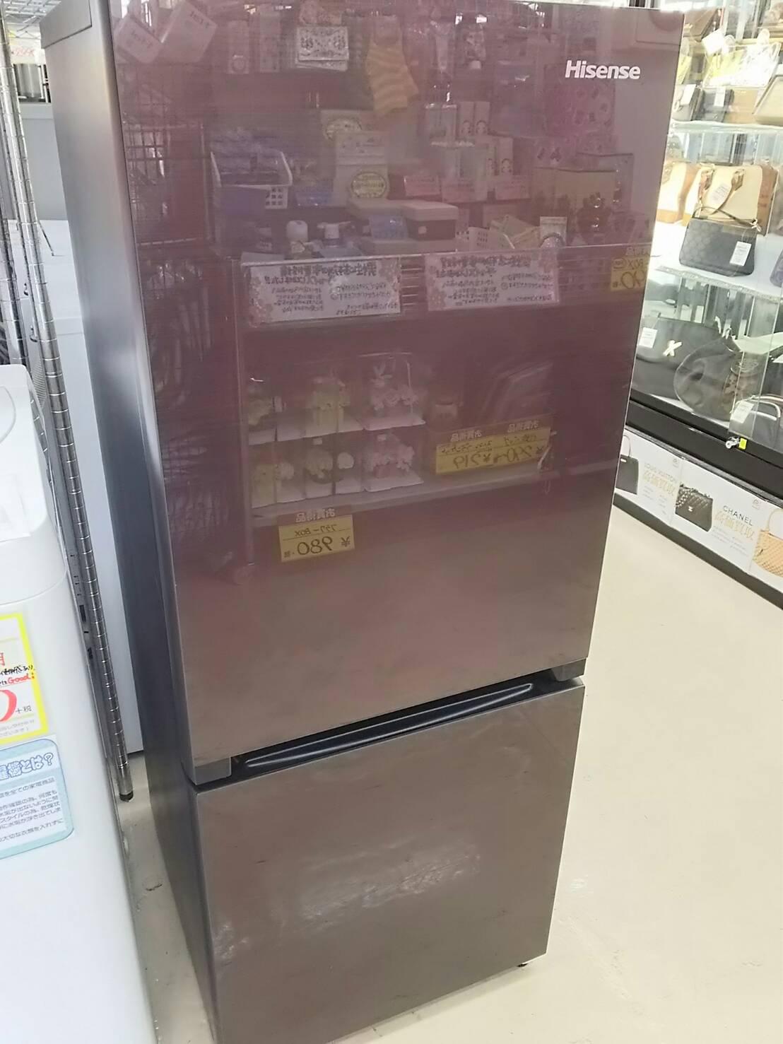 新生活にいかがですか?【Hisense ハイセンス 2017年製 ガラストップ 154L冷蔵庫】を買取致しました。の買取-