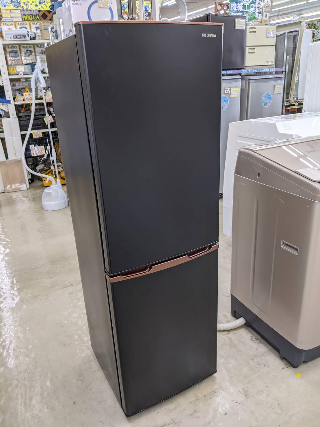 【IRIS OHYAMA アイリスオーヤマ 162L 冷蔵庫 IRSE-H16A-B 2019年式】を買取いたしました!の買取-