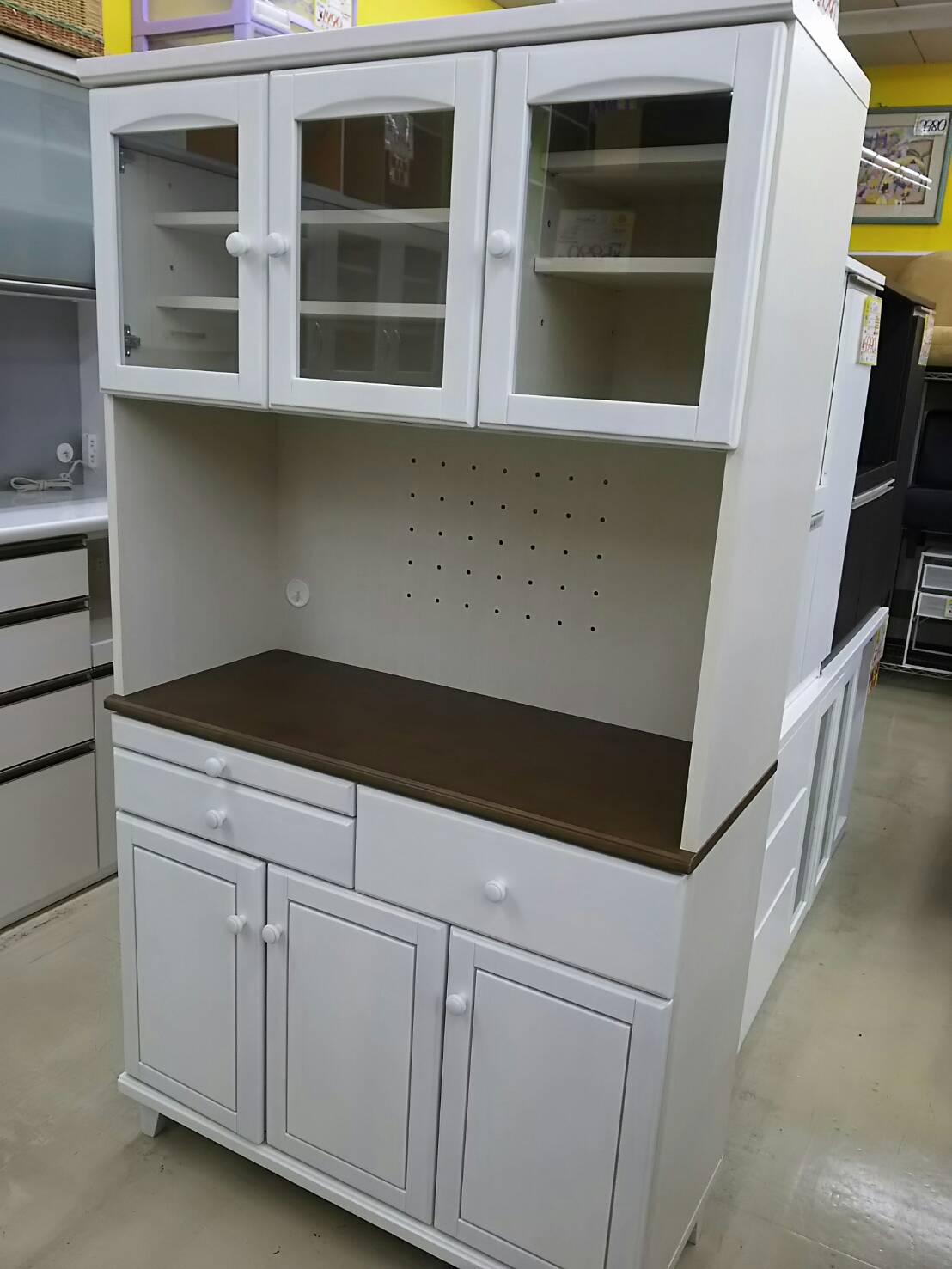【3面食器棚 スチームオーブン対応 レンジボード 100×42×180cm】を買い取り致しました!の買取-