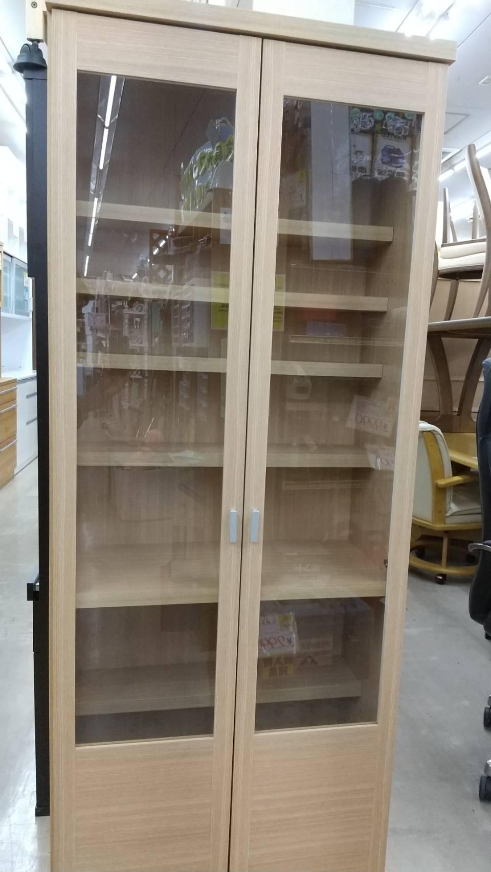 【moco フナモコ 2面食器棚 カップボード 77×32×180cm】をお買い取りいたしました!!の買取-