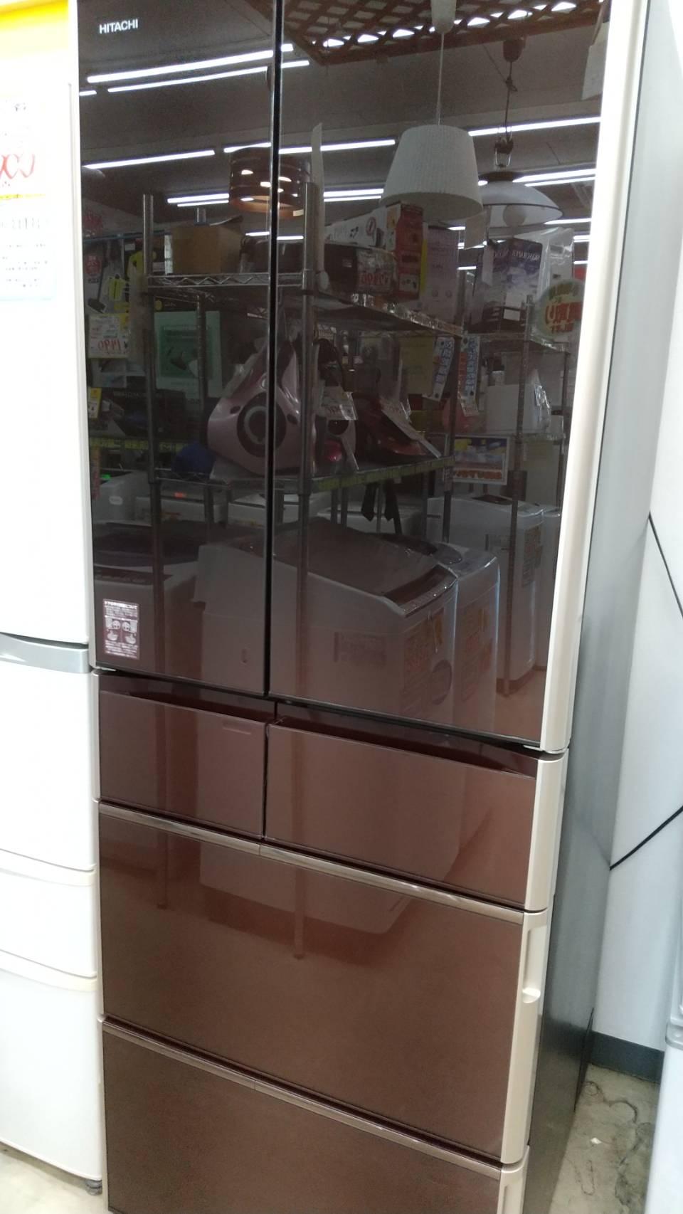 【HITACHI 日立 555Lガラストップ冷蔵庫 2017年式 R-WX5600G(ZT)】の買取-