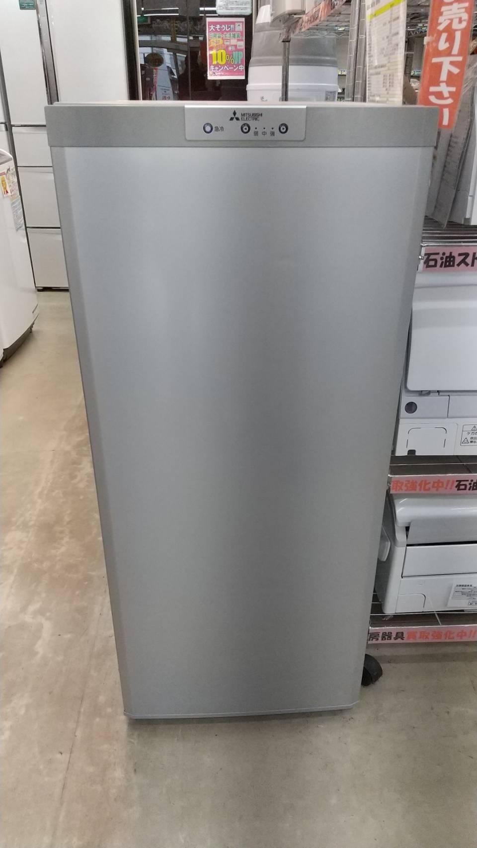 【MITSUBISHI 三菱 121L冷凍庫 2017年製 MF-U12B-S ノンフロン】をお買い取りいたしました!!の買取-