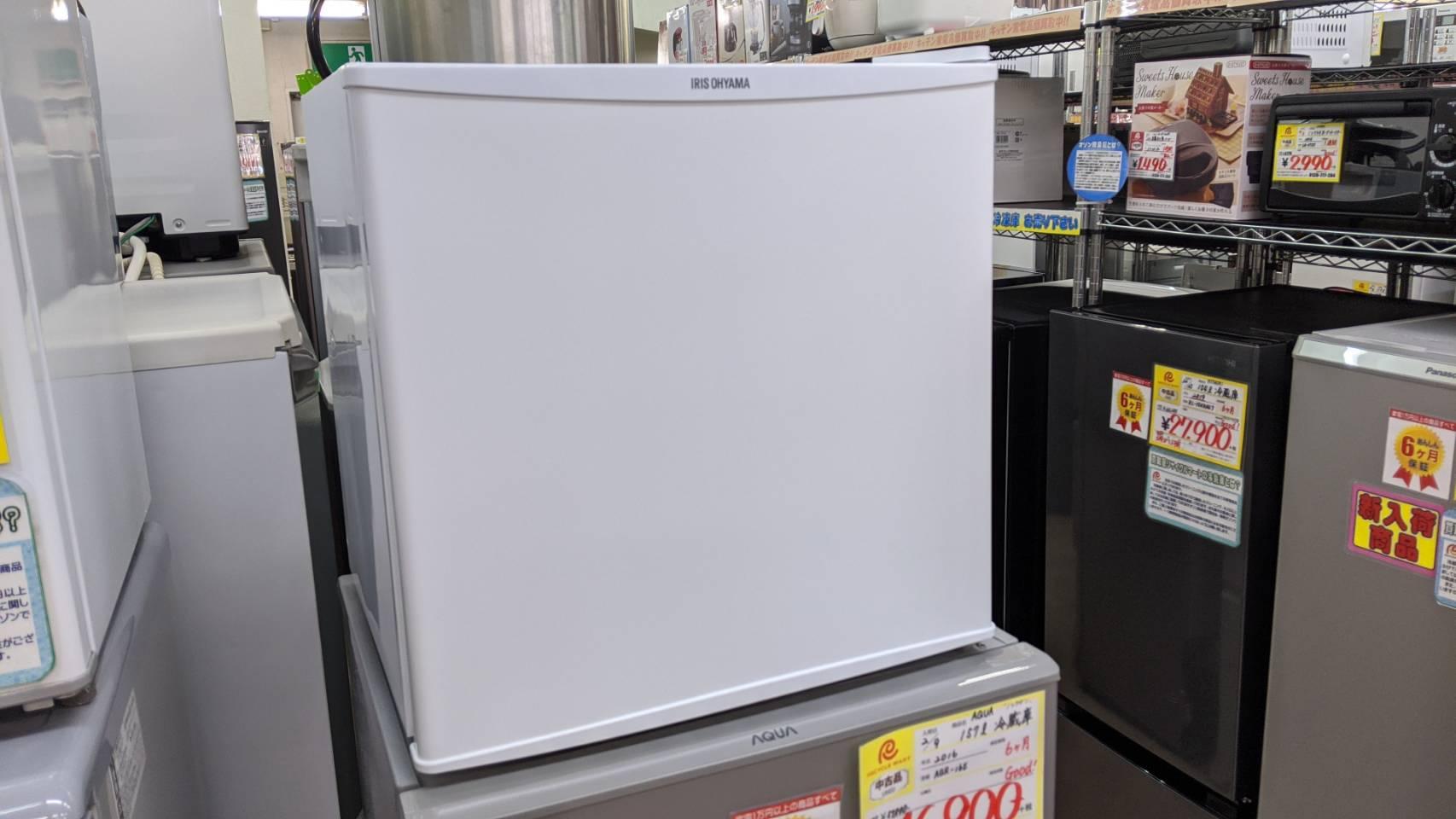 【IRIS OHYAMA 45L 冷蔵庫 2019年製 IRR-A051D-W 製氷室付 コンパクトサイズ】を買取させて頂きました!の買取-