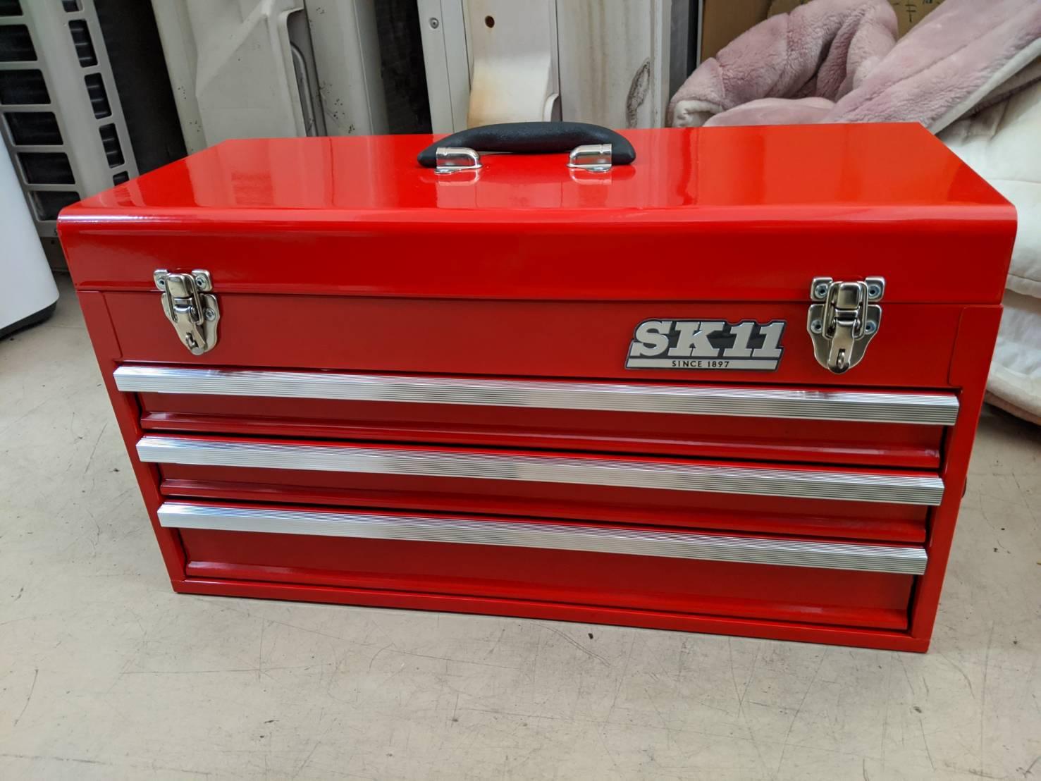 【SK11/エスケー11  整備工具セット ツールボックス  133点組 レッド  SST-16133RE】を買取致しました。の買取-