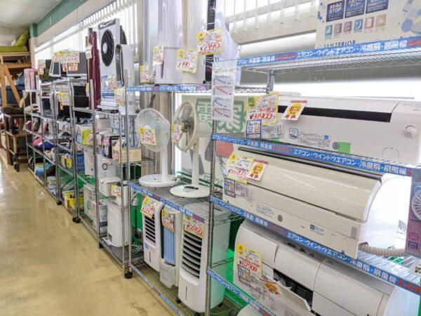 扇風機、冷風扇、ファンヒーター、除湿器など小物家電が特に不足しております!!買取強化中です!!