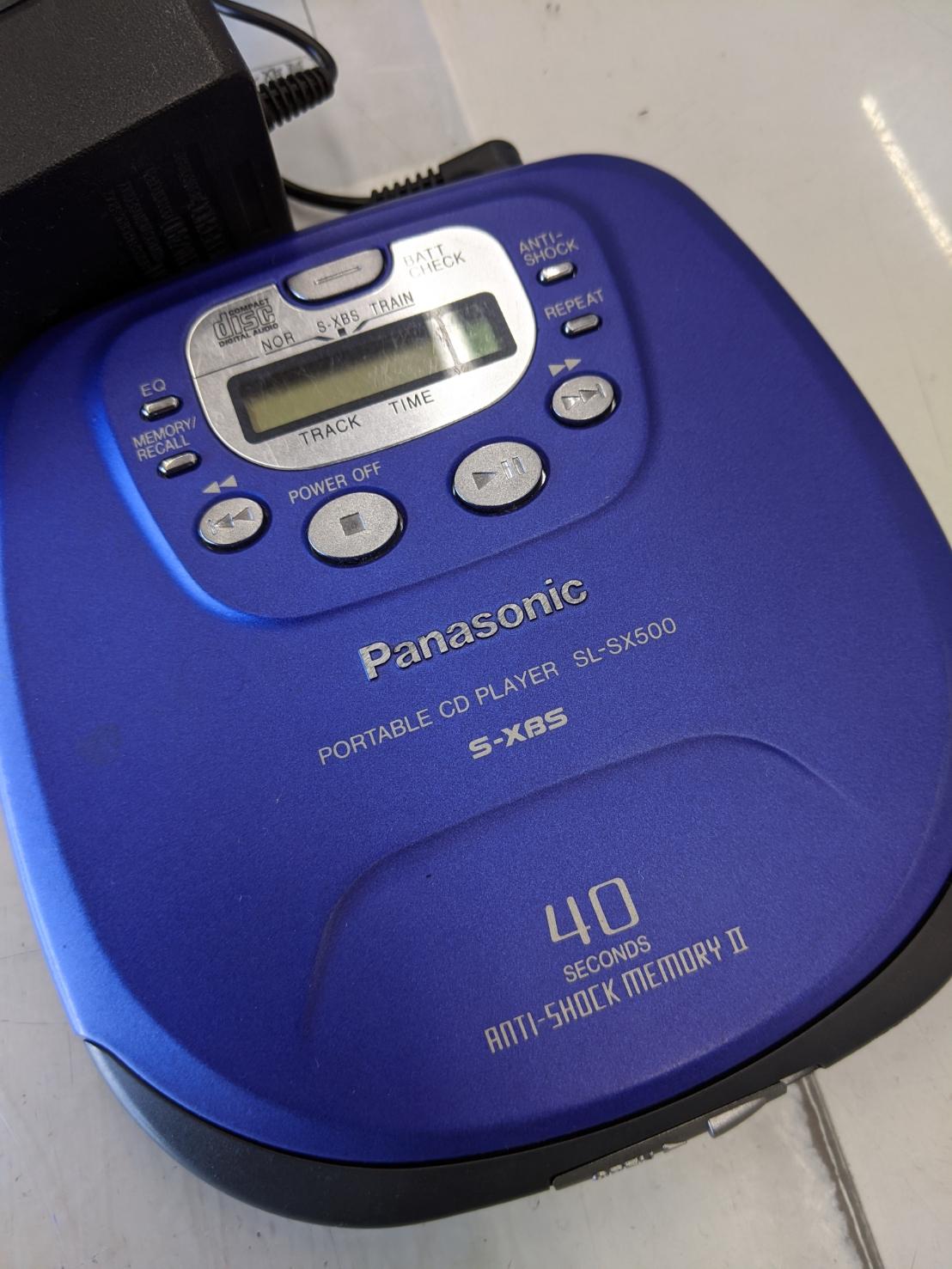 【Panasonic ポータブルCDプレーヤー SL-SX500】の買取-