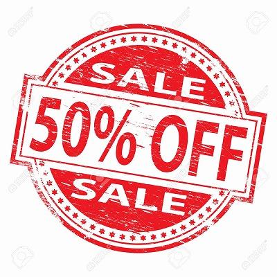 【10月23日(土)~10月31日(日)】まで『衣類半額50%OFFセール』開催します!!