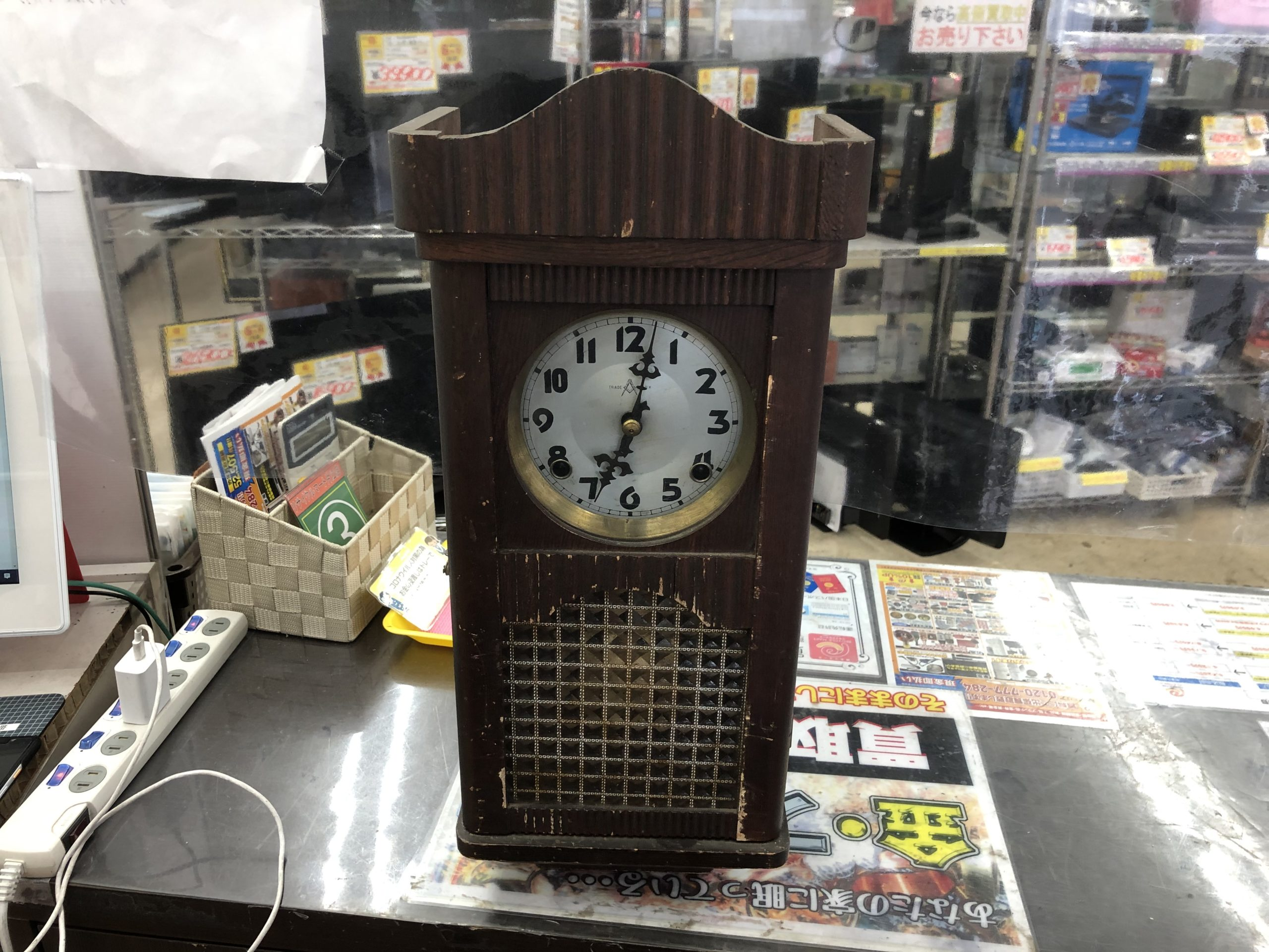 AICHI 愛知時計 柱時計 掛時計 振り子 レトロ アンティーク をお買取りさせて頂きました!!の買取-