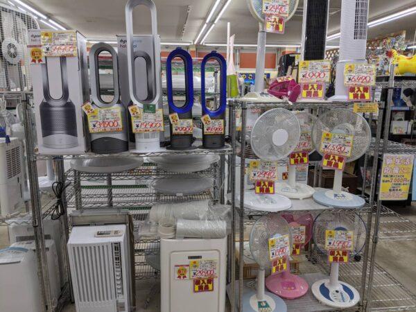 夏物家電の売り場を拡大しました!!