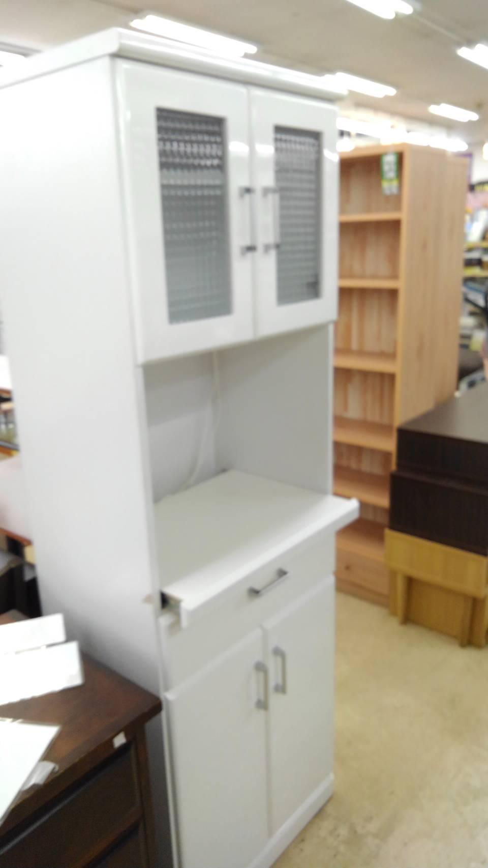 【レンジボード ナフコ キッチン家具 収納家具 白 白家具】買い取り致しました!の買取-