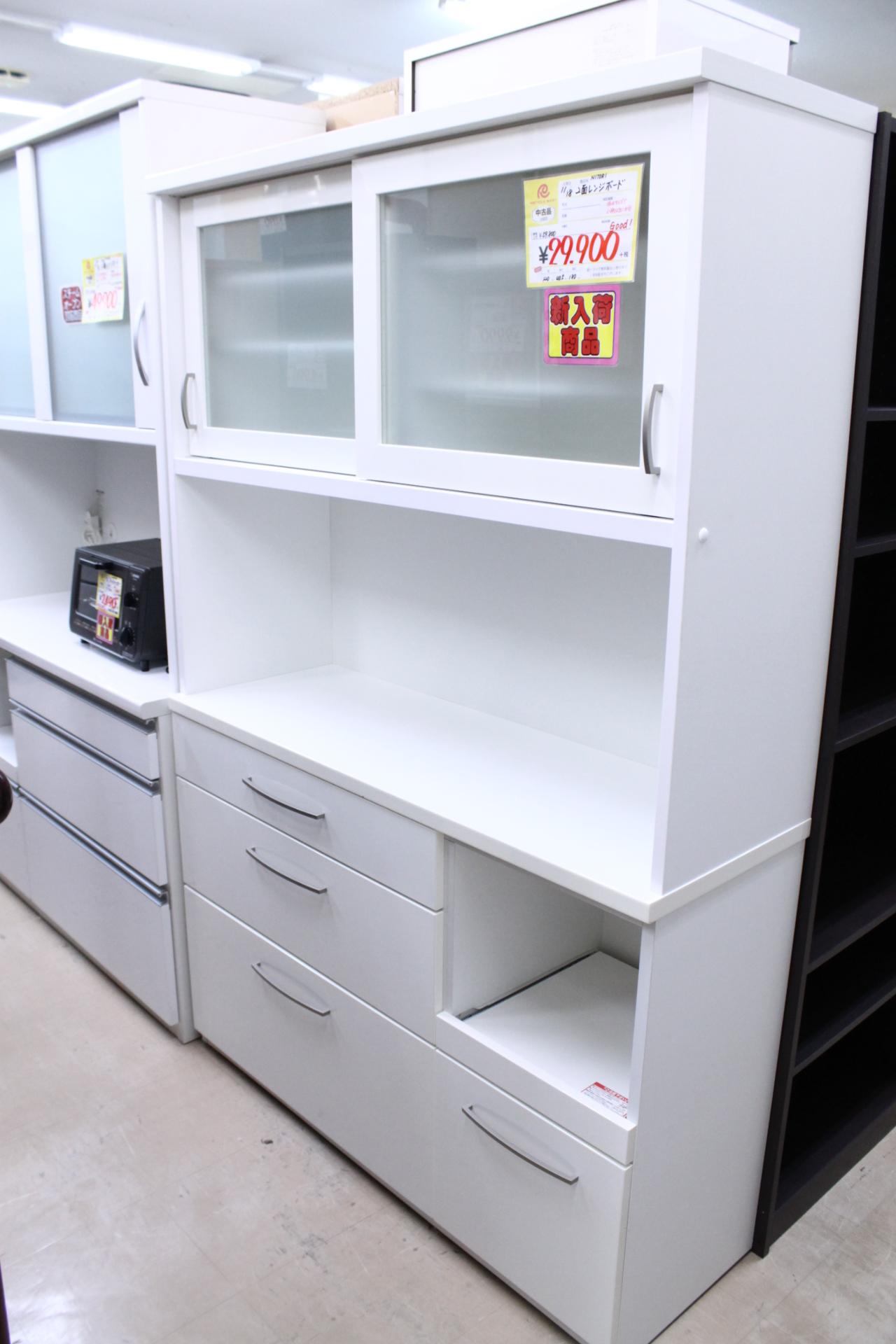 【NITORI ニトリ 2面レンジボード 食器棚 幅120☓奥行き40cm☓高さ180cm】を買取させて頂きました!の買取-