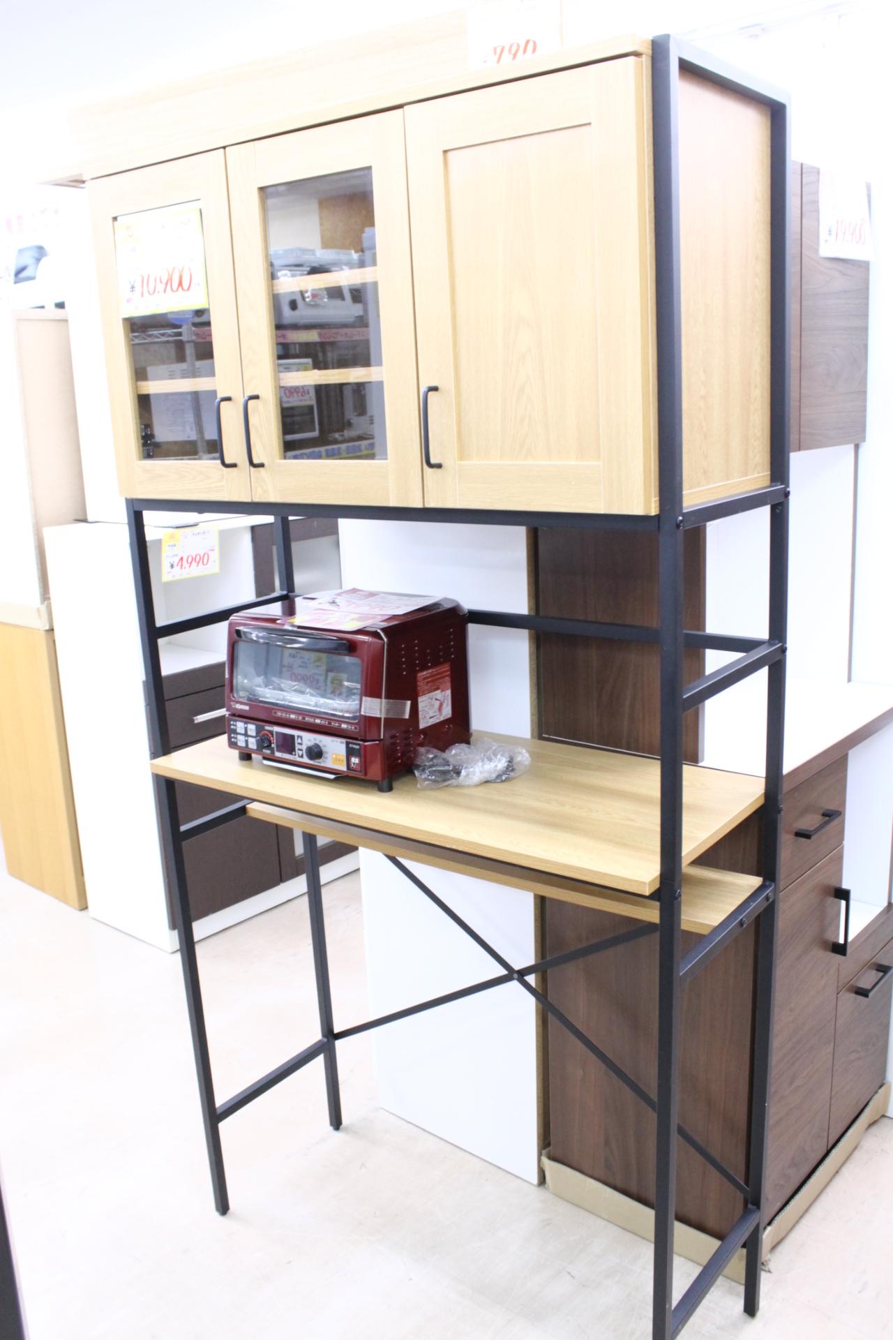 【3面レンジラック 食器棚 幅94cm☓奥行40cm☓181cm】を買取させて頂きました!の買取-