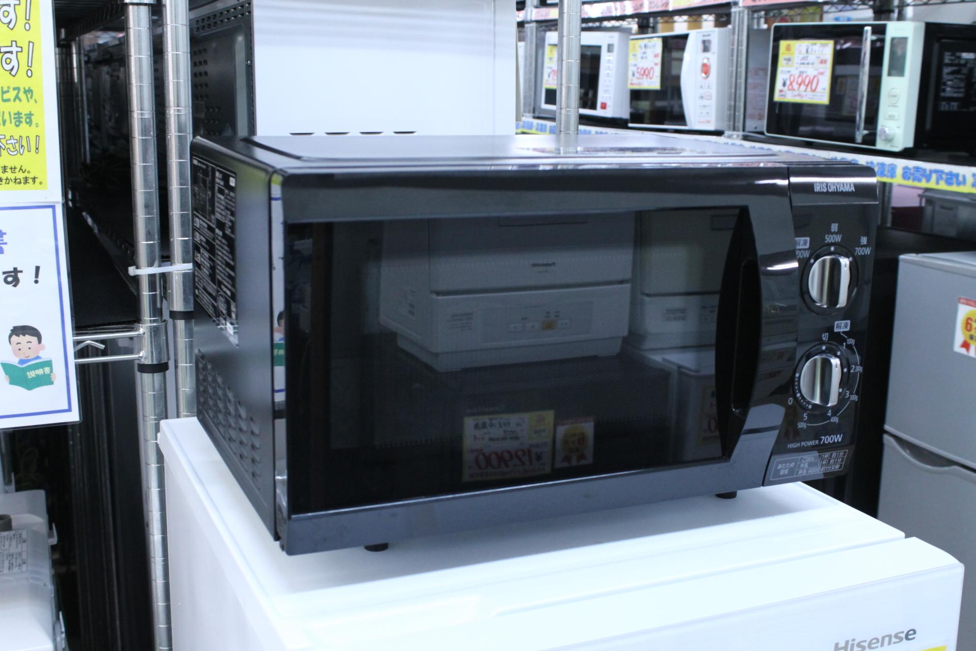 【IRIS OHYAMA アイリスオーヤマ 2019年製 電子レンジ PMB-F185-6 シンプル操作 単機能レンジ】を買取させて頂きました!の買取-