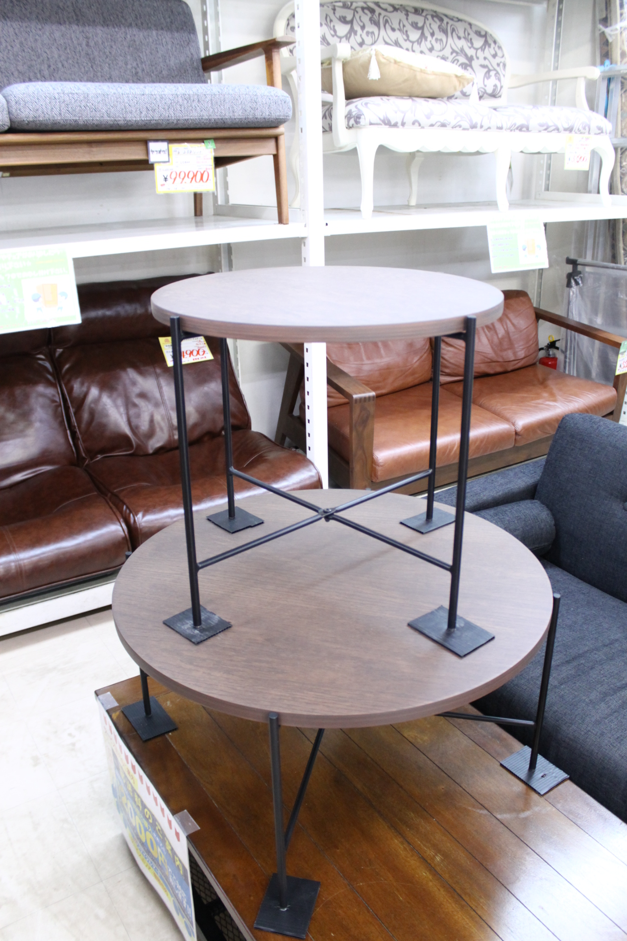 【NITORI ニトリ 円形テーブル  カフェ テーブル セット ヴェルカー 7050LBR】を買取させて頂きました!の買取-