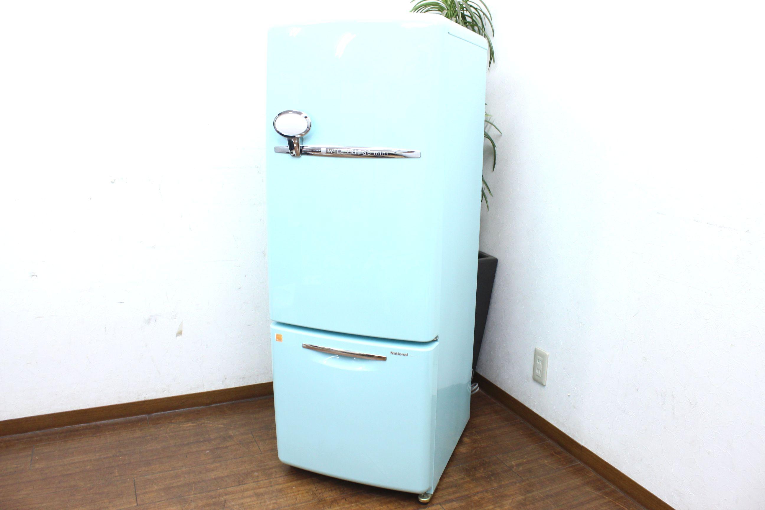 (大野城市)National ナショナル WiLL ウィル FRIDGE mini 2ドア冷凍冷蔵庫 ターコイズブルー 162Lの買取-36000