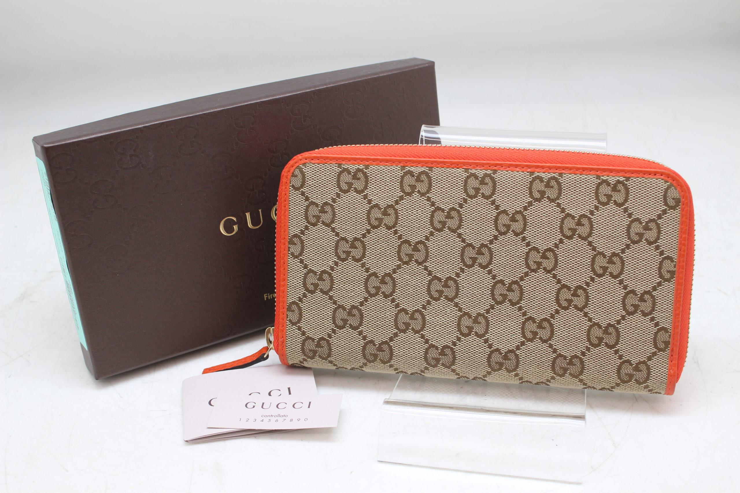 GUCCI/グッチ 363423 ラウンドファスナー 長財布 GG柄 ジャガード レザーを買取させて頂きました。の買取-