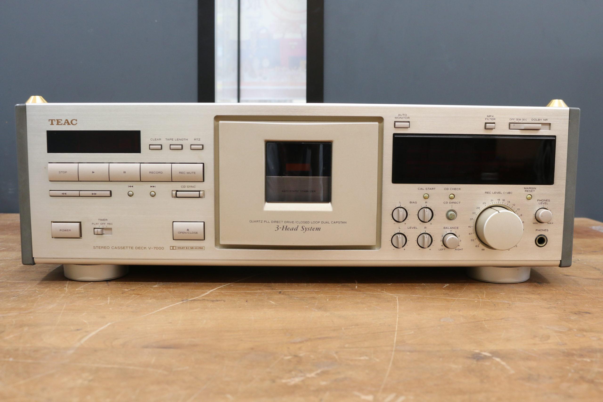 TEAC/ティアック V-7000 3ヘッド ステレオカセットデッキ オーディオ機器を買取させて頂きました!!の買取-