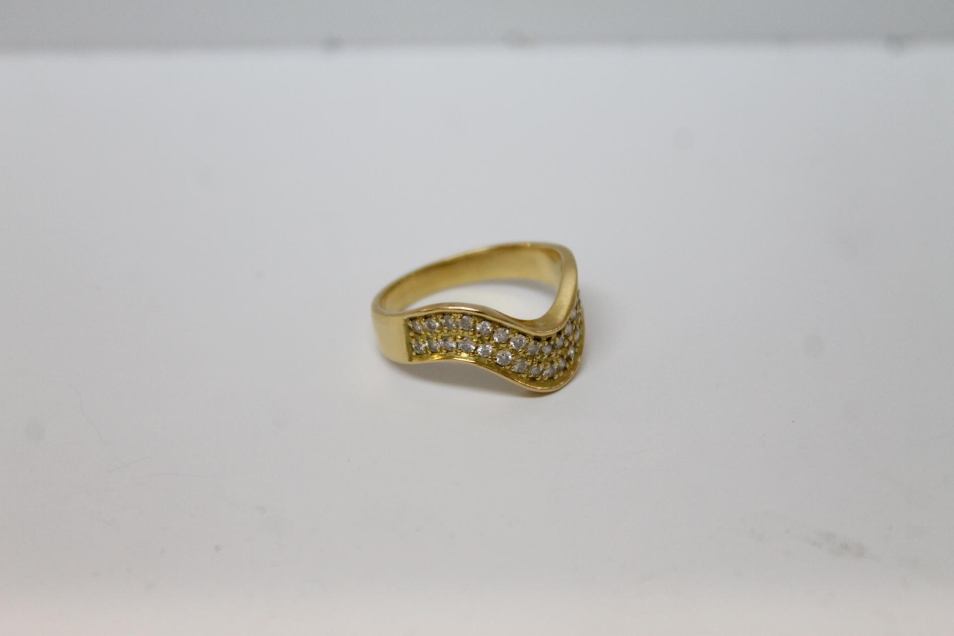 【K18 リング デザインリング ダイヤ 0.41 3.2g サイズ11号 】を買取させて頂きました!の買取-