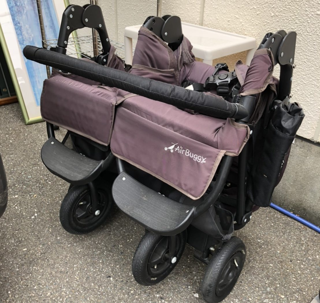 AIRBUGGY エアバギー ココ ダブル フロムバース EX 新生児〜3歳頃 ベビーカー 2人乗り coco double from birthの買取-