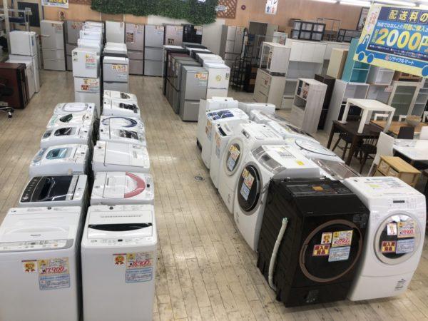 冷蔵庫 洗濯機 ドラム式洗濯機 家具コーナーを拡張致しました(^_-)-☆
