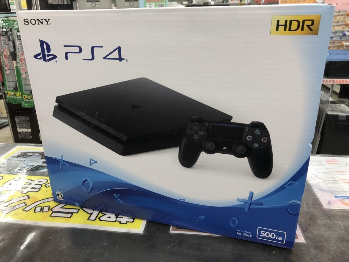【未使用品】PlayStation 4 ジェット・ブラック 500GB CUH-2200AB01 をお買取りさせて頂きました!!の買取-