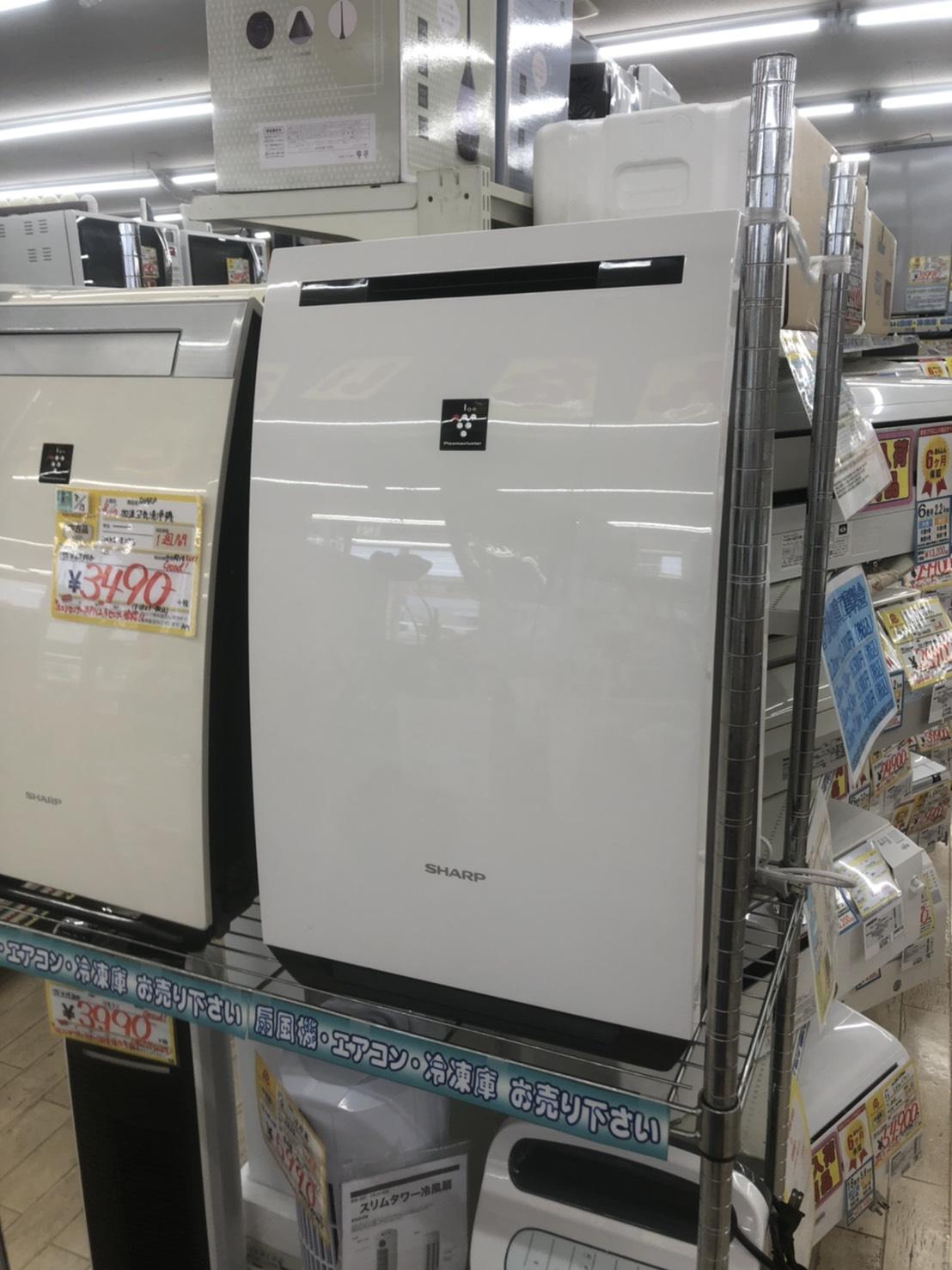 【🌠SHARP🌠2017年 除湿🌟加湿🌟大容量🌟空気清浄機 ~約23畳対応  プラズマクラスター ホワイト系 KC-HD70-W🌠】を買取りさせて頂きました。の買取-