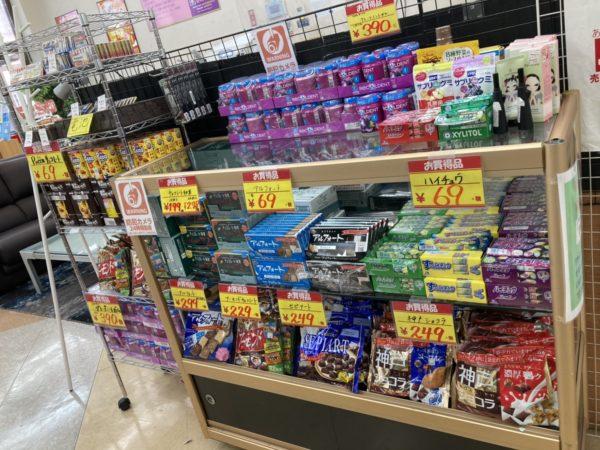 お菓子が大量入荷!!来年もよろしくお願いします!!