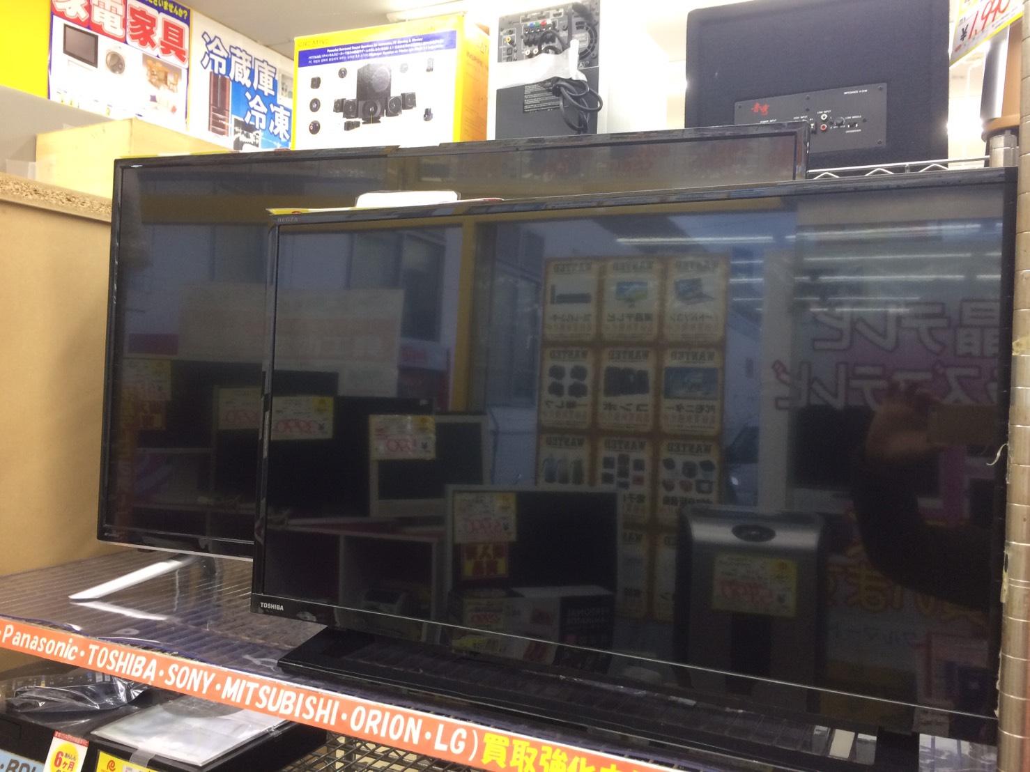 テレビの高価買取を行っております!!!特に国内メーカーで新しいものは高く買い取ります!!!