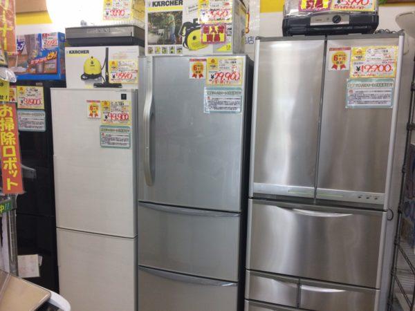 大きなファミリータイプの冷蔵庫が足りません!!高価買取致します!!