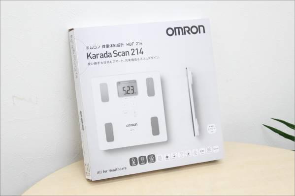 未使用 オムロン 体重体組成計 カラダスキャン ホワイト HBF-214の買取-