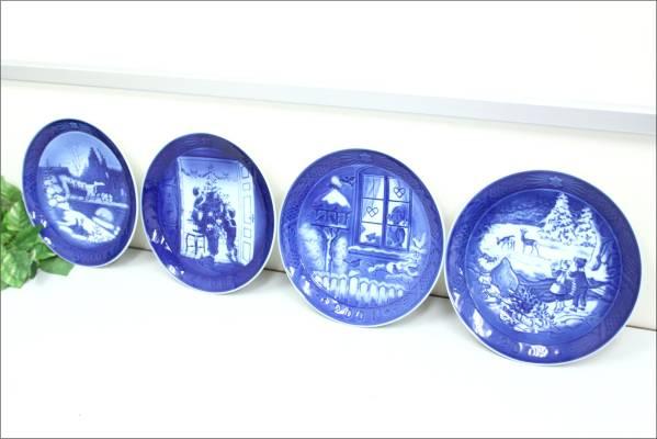 (鳥栖市)ロイヤルコペンハーゲン イヤープレート 絵皿 4枚 1999-2002年の買取-5000